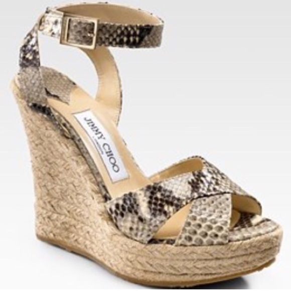 low price for sale free shipping high quality Jimmy Choo Platform Espadrille Wedges low shipping buy cheap popular fOhkM049